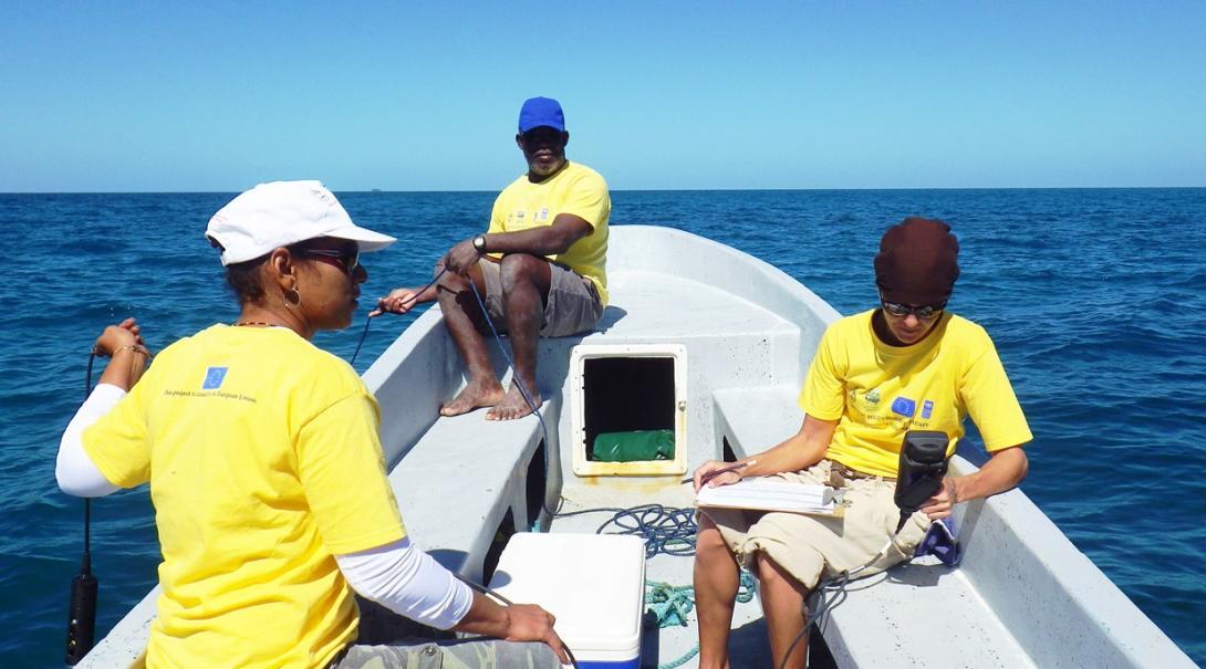 ベリーズの海で海洋環境調査活動